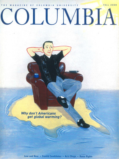 Fall 2008 cover of Columbia Magazine with illustration by Arthur Giron