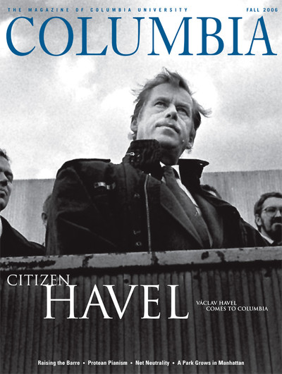 Fall 2006 cover of Columbia Magazine with a photo of Vaclav Havel